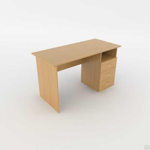 Стол прямоугольный однотумбовый Лайт