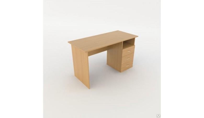 Стол прямоугольный однотумбовый Лайт ЛТ С06-12 R