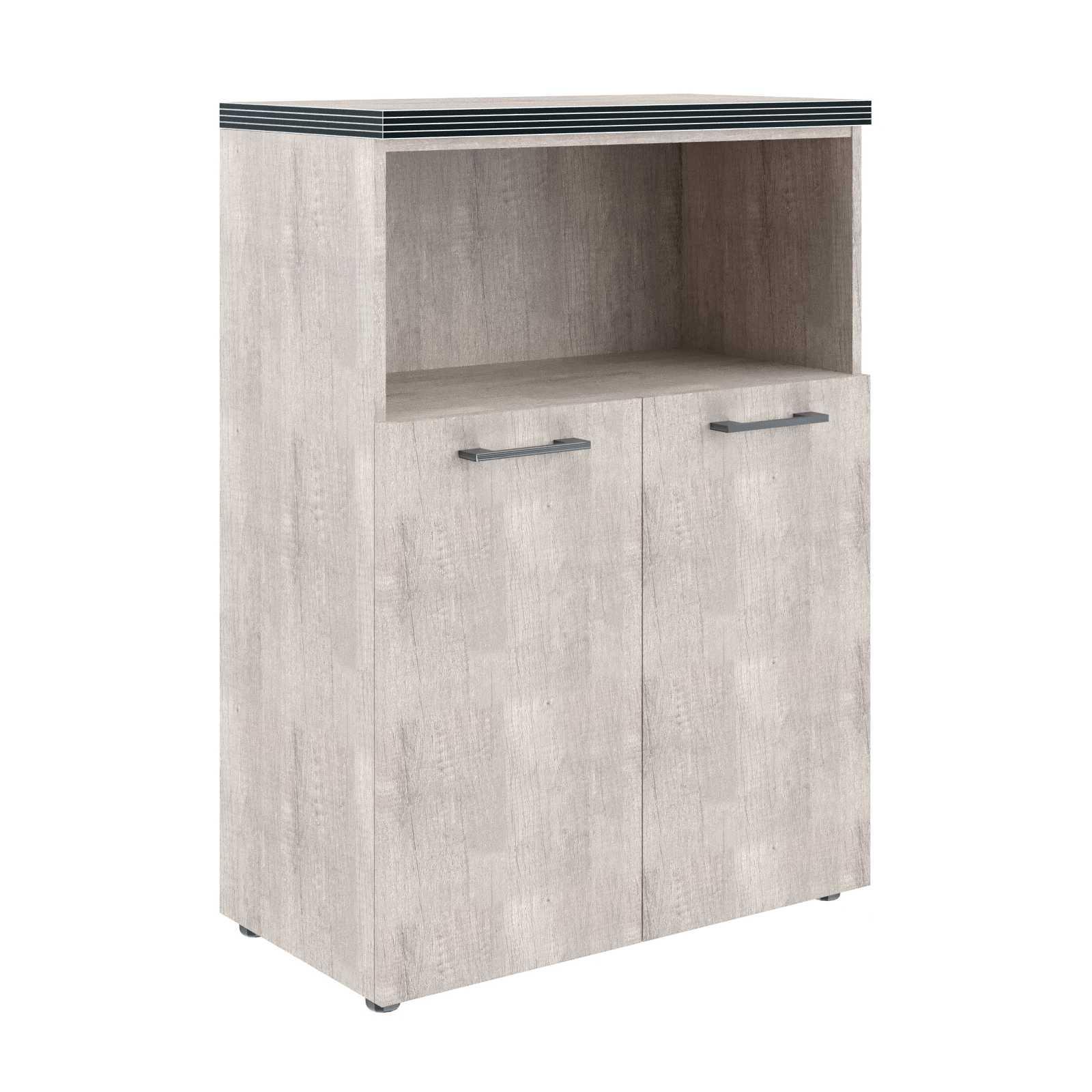 Шкаф 3 уровня полуоткрытый