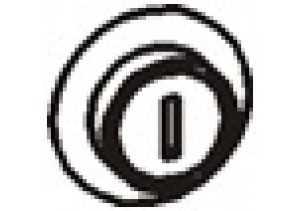 Комплект замок + задвижка для распашных дверей из ДСП Р702