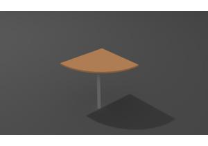 Сектор с опорой хром/черный СП-60