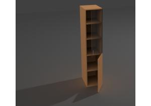 Шкаф колонка комбинированый со стеклом ШКС-04