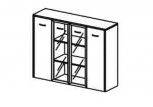 Шкаф комбинированный -Lux2
