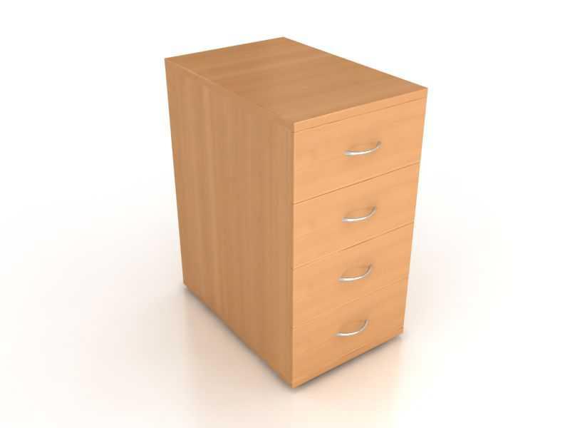 Тумба приставная 4 ящика Лайт