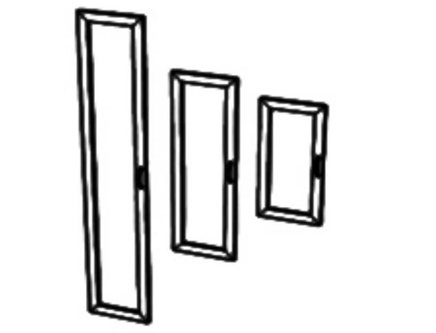 Двери стекло в МДС профили брон. МДС-01
