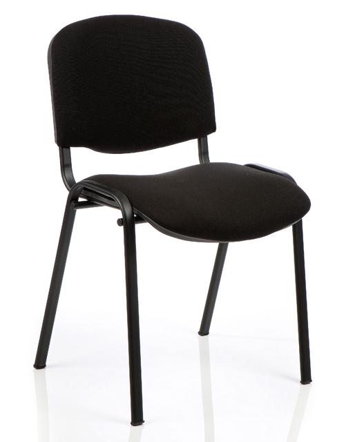 Кресло чёрный каркас Изо-Ткань