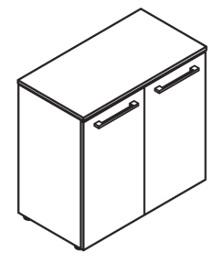 Шкаф с глухими малыми дверьми с замком DLC 85.1(Z)