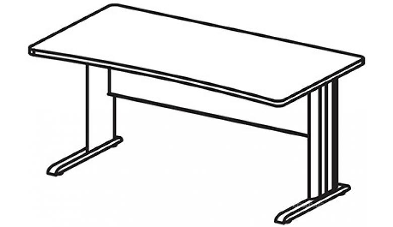 БЕРЛИН Стол прямоугольный на метал. опоре глубиной 65 см BM251/1
