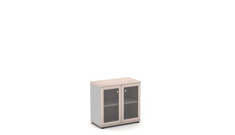 Шкаф со стеклом в алюминиевом профиле V-652