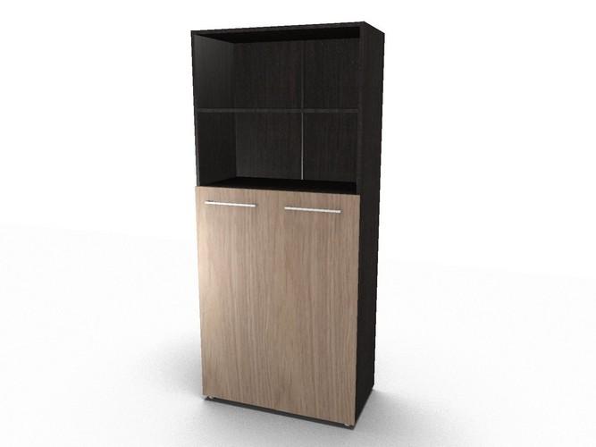 Шкаф с глухими средними дверьми и топом
