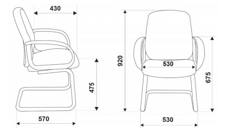 Кресло Бюрократ CH-808-Low-V/Grey