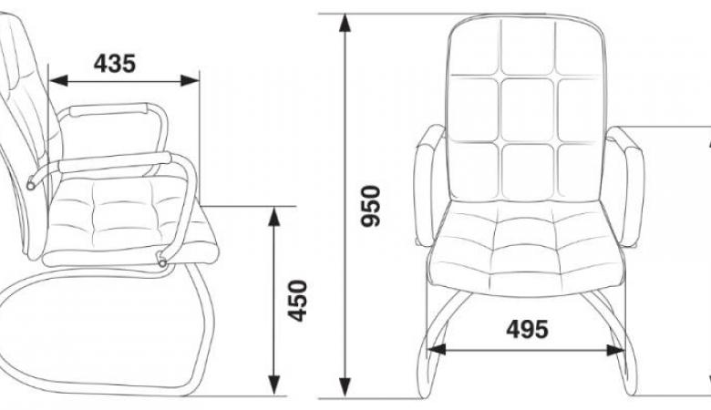 Кресло Бюрократ CH-909-LOW-V/BLACK
