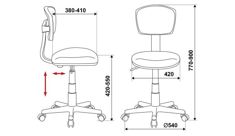 Кресло Бюрократ CH-299NX/DOLLS-GR
