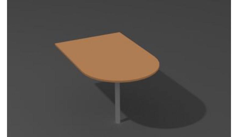 Брифинг-приставка с опорой хром/черная БП-100/60