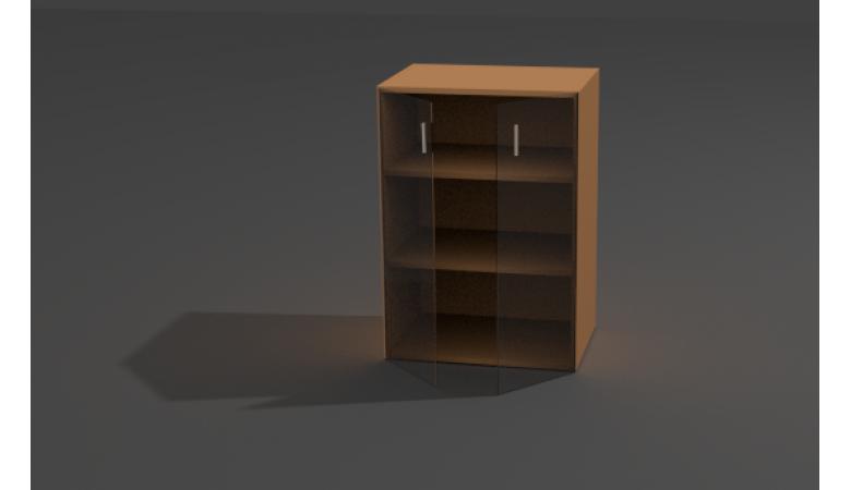 Шкаф закрытый со стеклом ШЗС-11