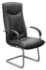 Кресло К47 на полозьях (хром) Эргус