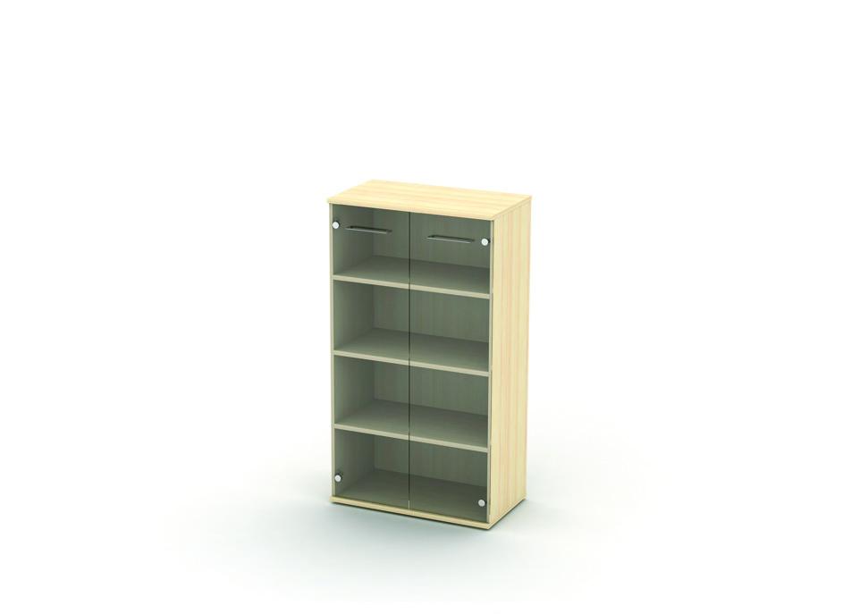 Шкаф со стеклом 3 уровня