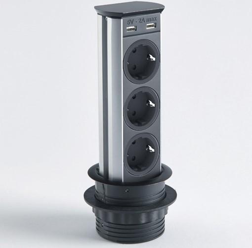 Выдвижная розетка-удлинитель Brick A9503