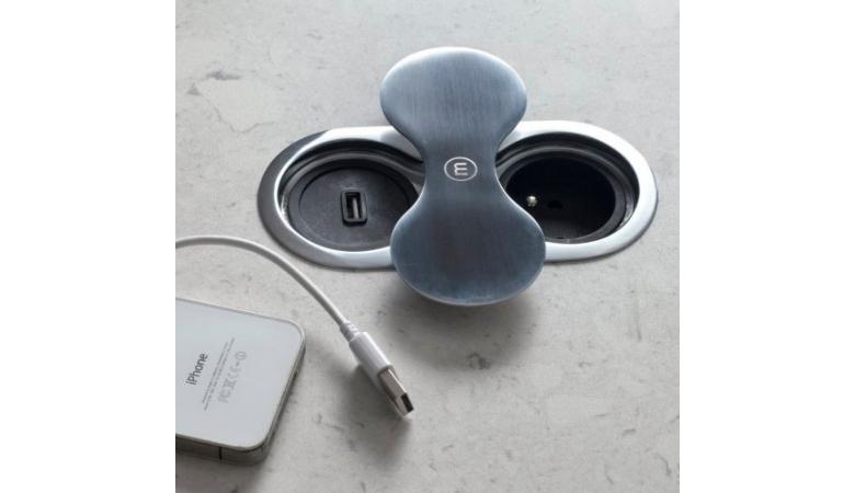 Встраиваемая розетка-удлинитель Eight с USB BP8U-2