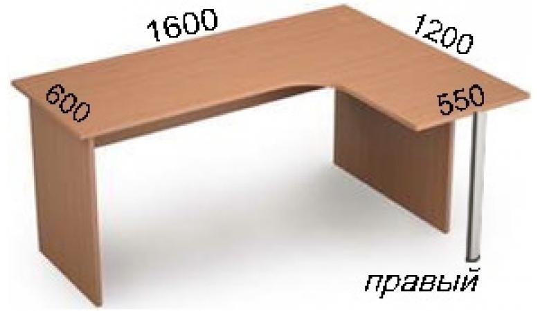 Стол криволинейный 2С.033(прав) **