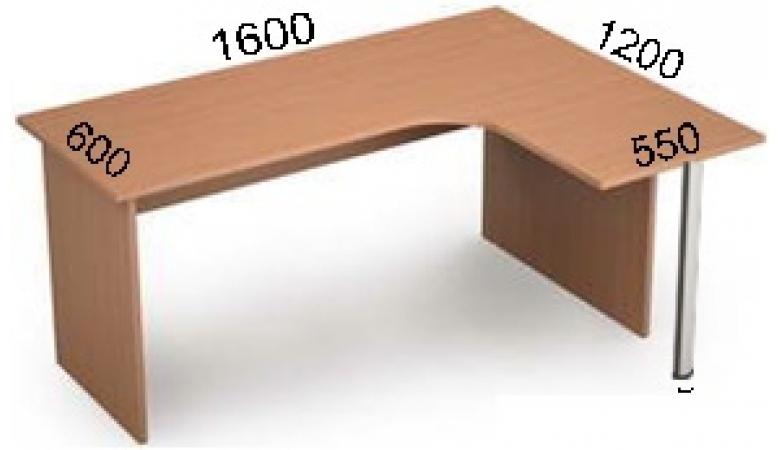Стол криволинейный 2С.032(лев) **