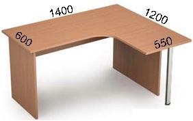 Стол криволинейный