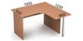 Стол криволинейный 2С.028(лев) **