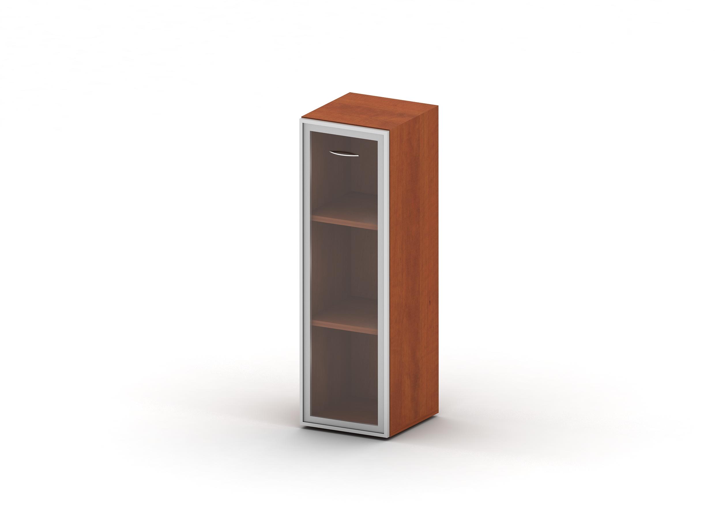Шкаф 3 уровня стекло в раме