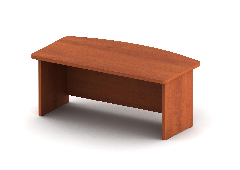 Стол с внешней фигурной столешницей и низкой передней панелью