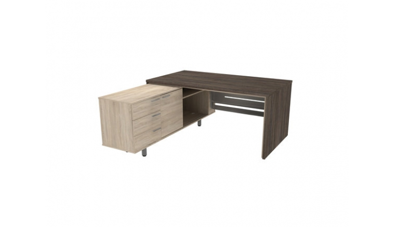 Стол письменный с большой тумбой метал. царга П34ДМЛ/П