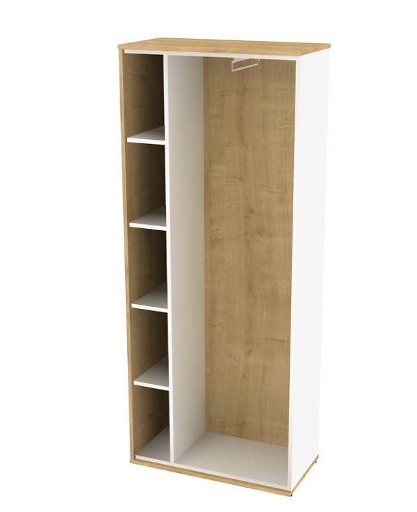 Гардероб боковой элемент для стеллажной композиции white