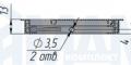 Заглушка кабель-канала, алюминиевая, 100х100 мм 2113.101.S