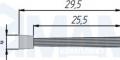 EXIT Щетка для профиля 2090.008, серый, L-2000 2090.028