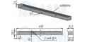 EXIT Заглушка кабель-канала, 400х35 мм 2090.906.0400